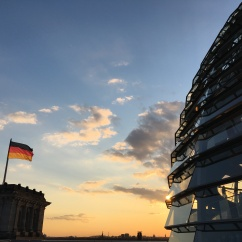 Reichstag Dome at sunset
