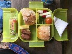 trail mix :) love the compartmentalized box