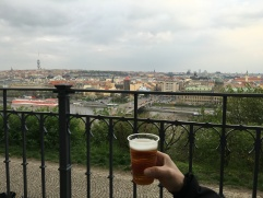 beer garden with a view!