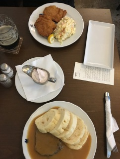 traditional Czech food at Lokal
