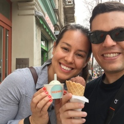 basil and chocolate ice cream