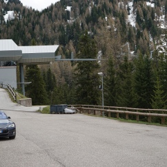 Model S in the heart of the Dolomites