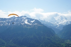 hiked up with the paragliders
