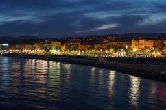 along the Promenade d'Anglais