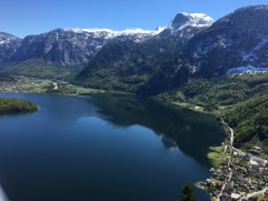 view from the top of our hike, Hallstatt below