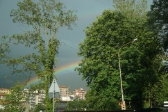 rainbow during a break in the storm