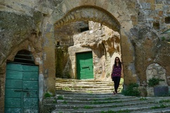 walking around Pitigliano