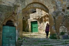 walking around Pitigliano